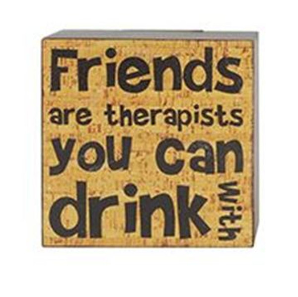 1511-37599 Friends Are Therapists Wall Box Sign - Pack of 8