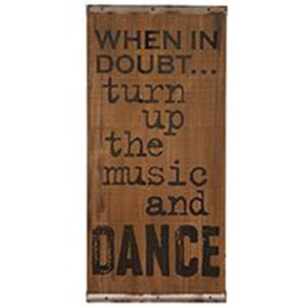1511-71810 Blossom Bucket When In Doubt Dance Sign - Pack of 3