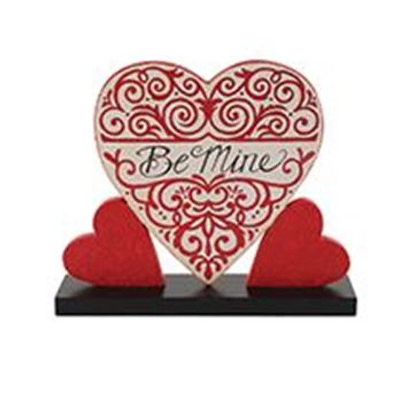 1512-37505 Blossom Bucket Be Mine Hearts On Base - Pack of 7