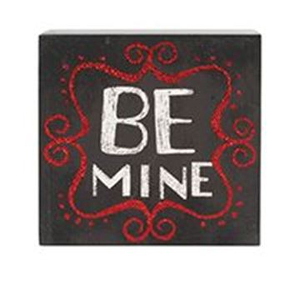 1512-72083 Blossom Bucket Be Mine Wall Box Sign - Pack of 6