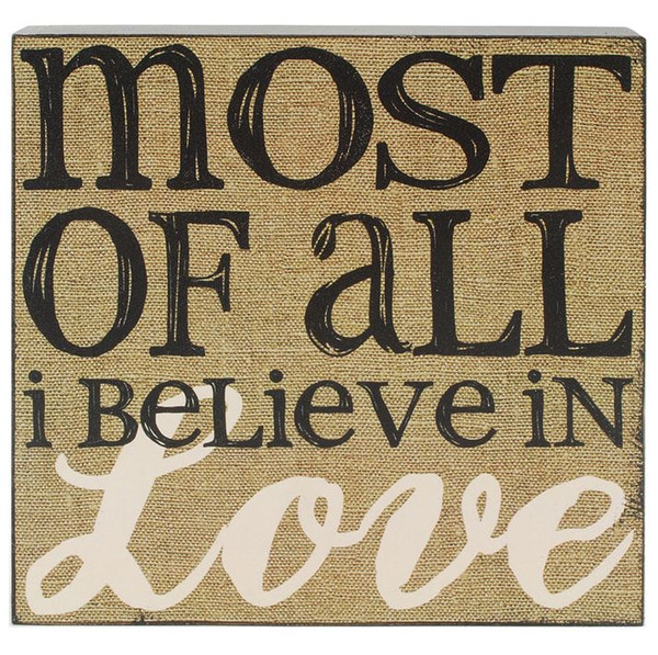 151-39505 Blossom Bucket I Believe In Love Wall Box Sign - Pack of 5
