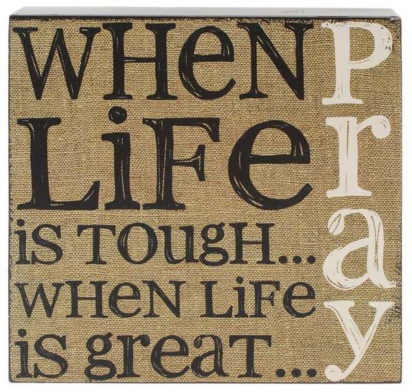 151-39508 When Life Is Tough Wall Box Sign - Pack of 5