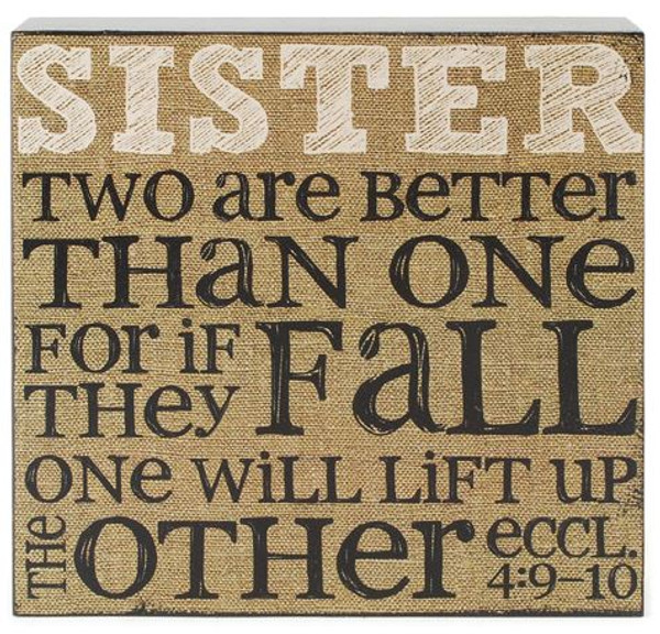 151-39510 Sisters Two Are Better Wall Box Sign - Pack of 5