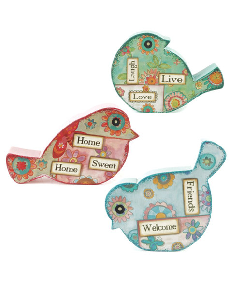 151-71440 Blossom Bucket Set of 3 Bird Name Card Holders - Pack of 4