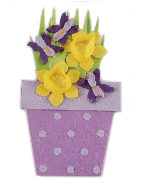 151-71544 Purple/Yellow Flowers Giftcard Holder In Wrapping-Pack of 11
