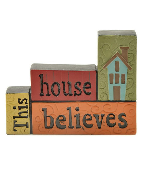 151-89431 This House Believes Stacked Blocks - Pack of 6