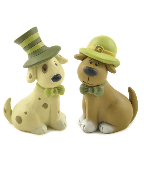 151-89808 Blossom Bucket Set of 2 Dogs With Irish Hats - Pack of 4