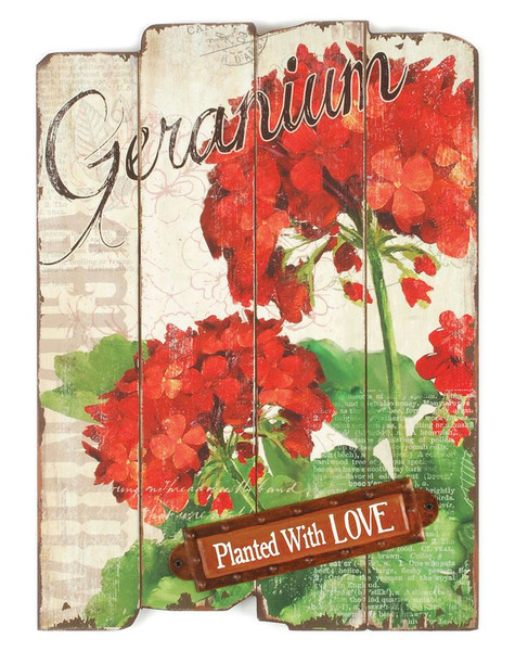 153-71487 Planted With Love Floral Wall Sign - Pack of 3
