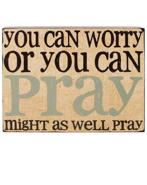 154-37305 Blossom Bucket You Can Pray Wall Box Sign - Pack of 6