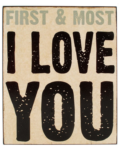 154-37415 Blossom Bucket I Love You Wall Box Sign - Pack of 4