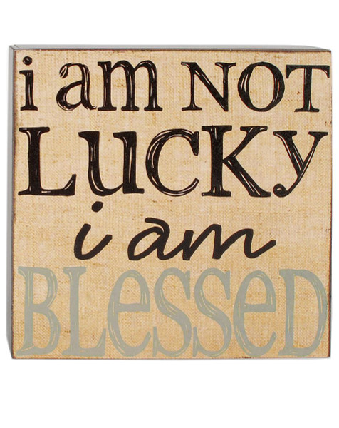 154-37420 Blossom Bucket Blessed Wall Box Sign - Pack of 8
