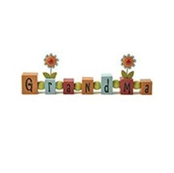 161-10352 Blossom Bucket Grandma Bead Block With Flowers - Pack of 5