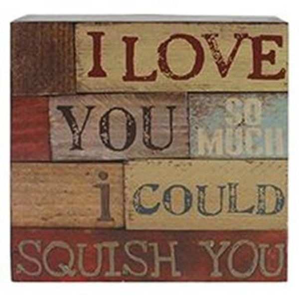161-37273 Blossom Bucket Love You So Much Wall Box Sign - Pack of 5