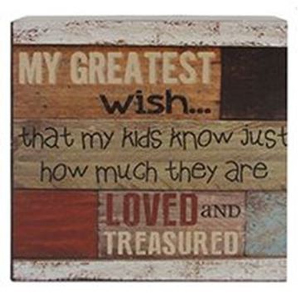 161-37275 Kids Loved Multicolored Wall Box Sign - Pack of 5