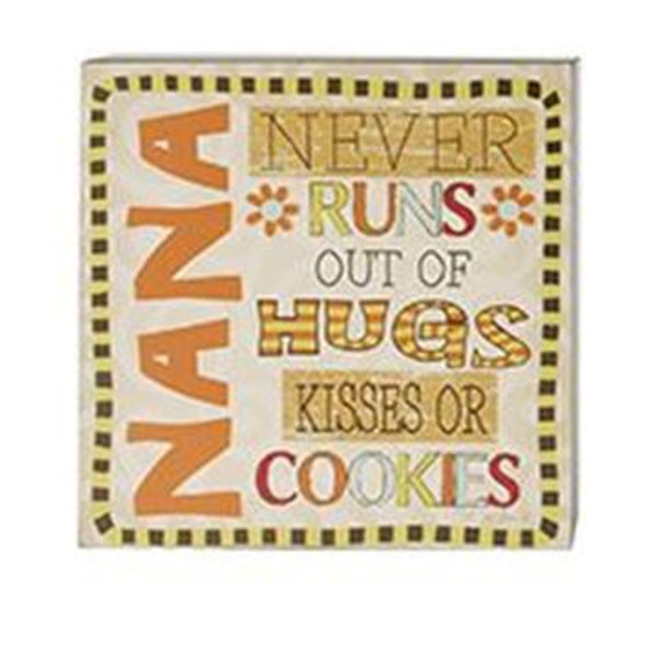 161-37441 Blossom Bucket Nana Never Runs Wall Box Sign - Pack of 5