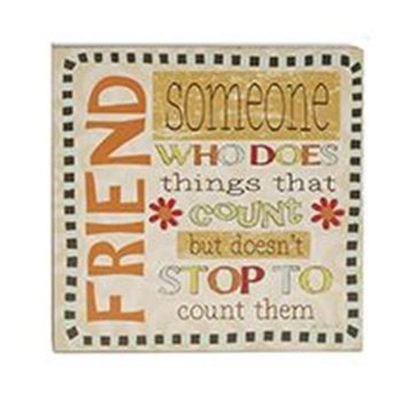 161-37446 Friend Someone Who Wall Box Sign - Pack of 5