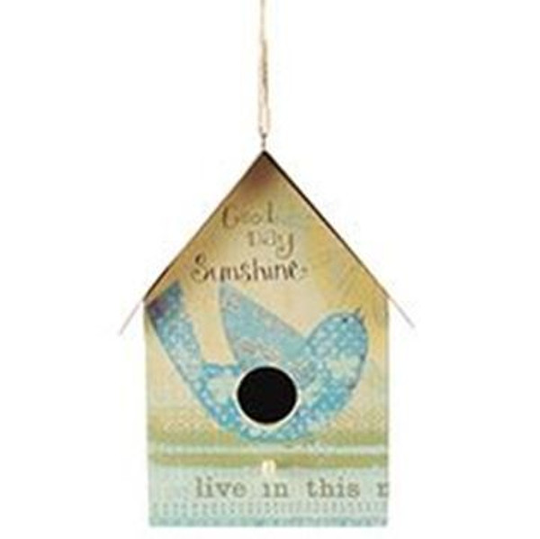 161-37458 Blossom Bucket Good Day Sunshine Bird House - Pack of 4