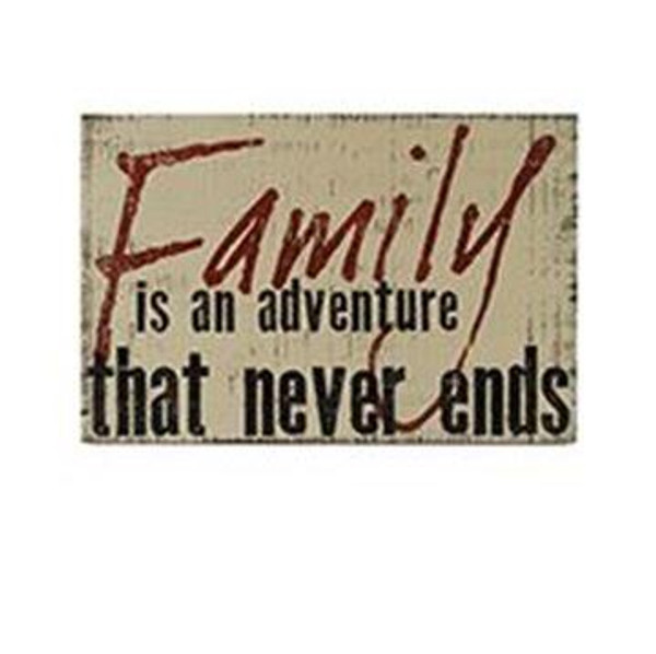 161-37472 Family Is Adventure Sign With Easel - Pack of 4