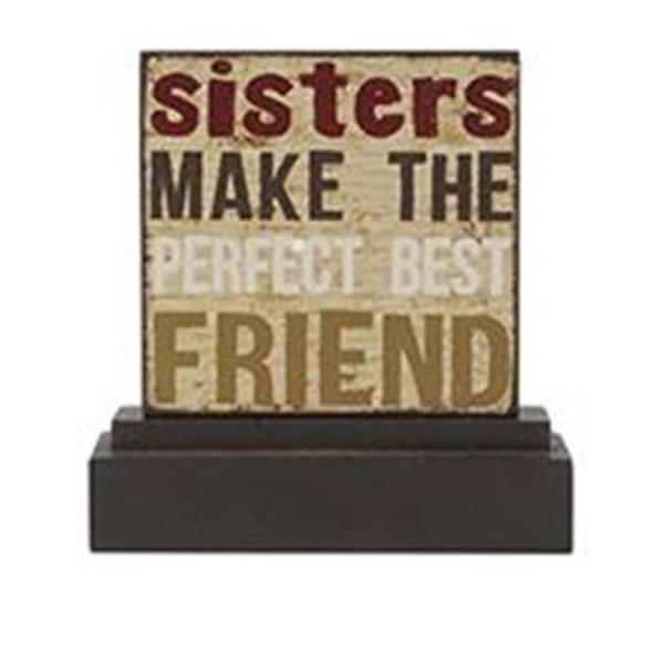 161-37474 Blossom Bucket Sisters Make Table Top Sign - Pack of 9