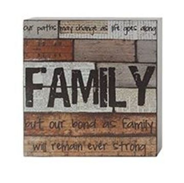 161-37478 Blossom Bucket Bond As A Family Wall Box Sign - Pack of 5