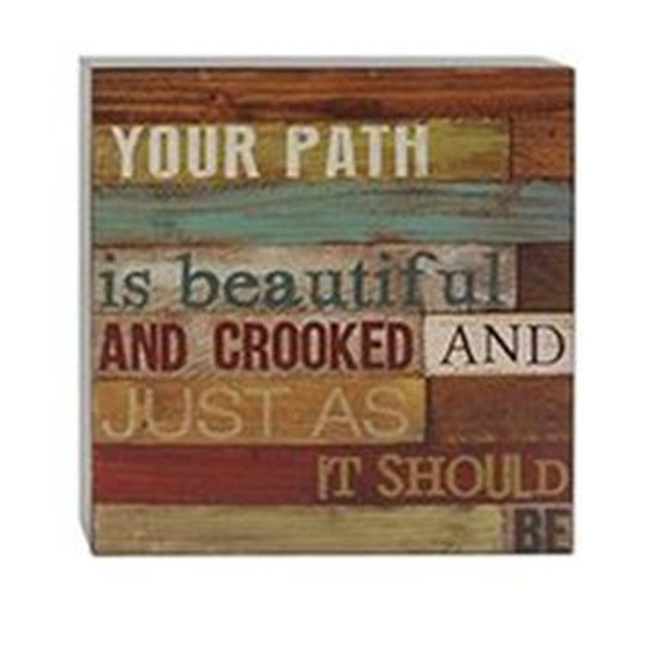 161-37479 Blossom Bucket Path Is Beautiful Wall Box Sign - Pack of 5