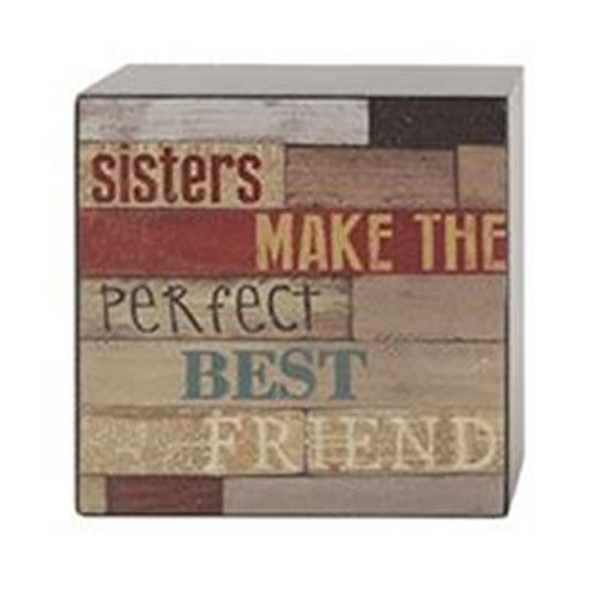 161-37480 Sisters Best Friends Wall Box Sign - Pack of 8