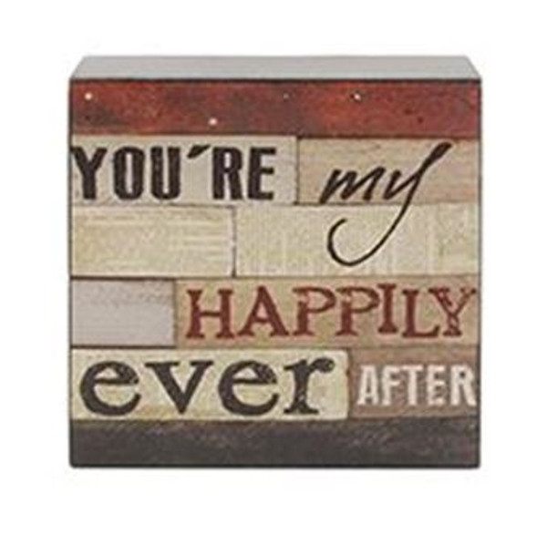 161-37482 Happily Ever After Wall Box Sign - Pack of 8