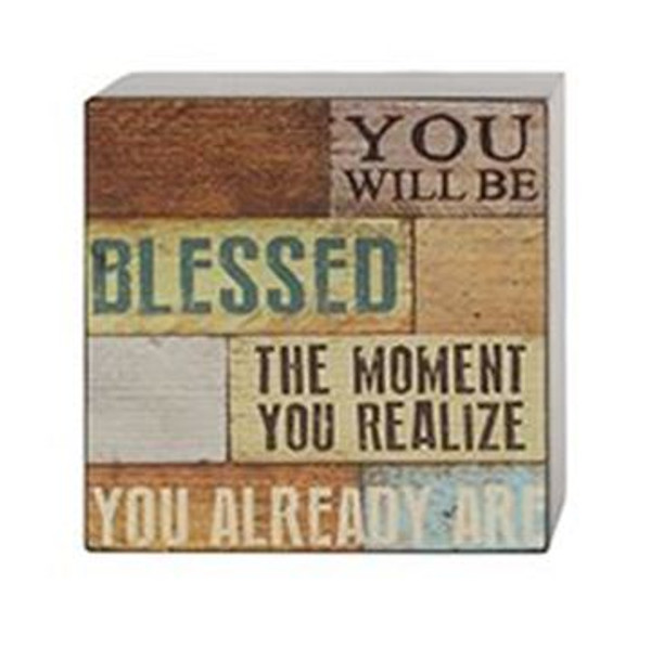 161-37483 You Will Be Blessed Wall Box Sign - Pack of 8