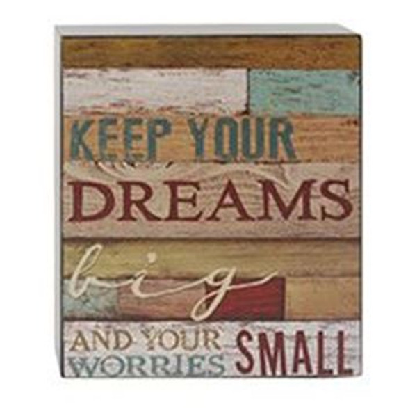 161-37485 Blossom Bucket Keep Your Dreams Wall Box Sign - Pack of 6