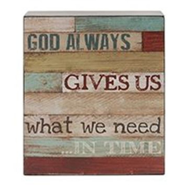 161-37486 Blossom Bucket God Always Wall Box Sign - Pack of 6