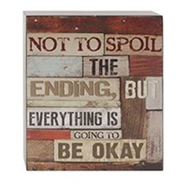161-37487 Not To Spoil The Ending Wall Box Sign - Pack of 6