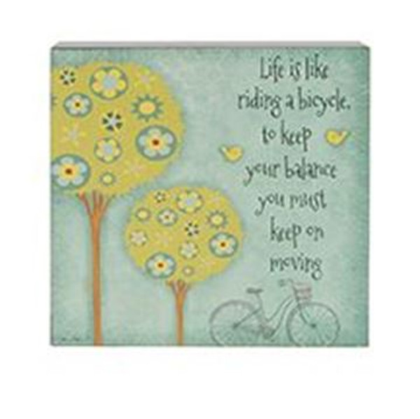 161-37489 Life Is Riding Bicycle Wall Box Sign - Pack of 5
