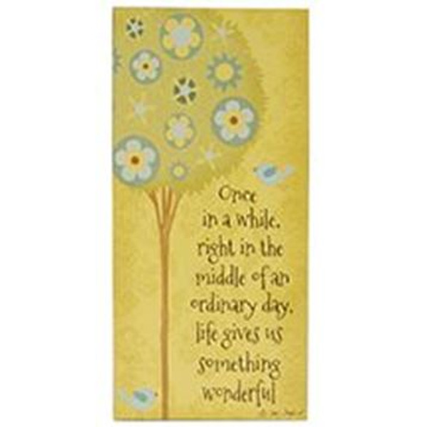 161-37492 Blossom Bucket Once In Awhile Wall Box Sign - Pack of 5