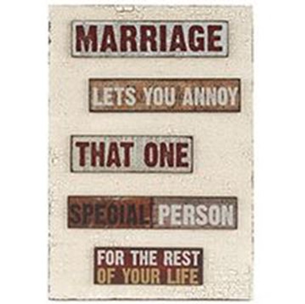 161-37501 Marriage Lets You Sign With Easel - Pack of 3