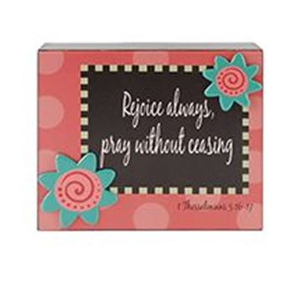 161-37510 Blossom Bucket Rejoice Always Wall Box Sign - Pack of 6