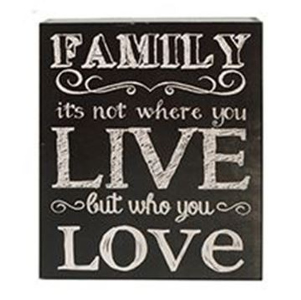161-37517 Family Not Where You Live Wall Box Sign - Pack of 6