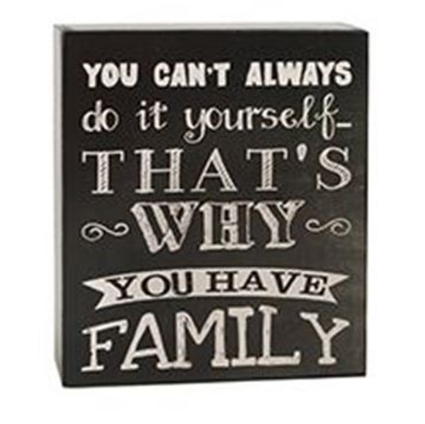 161-37518 Can't Do It Yourself Family Wall Box Sign - Pack of 6