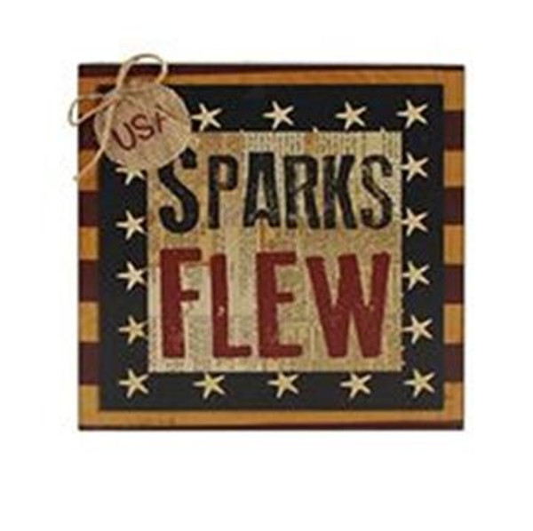 161-37593 Blossom Bucket Sparks Flew Wall Sign - Pack of 4