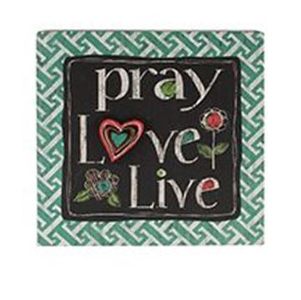 161-71815 Pray / Love / Live Wall Box Sign - Pack of 4