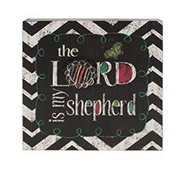 161-71816 Lord Is My Shepherd Wall Box Sign - Pack of 4