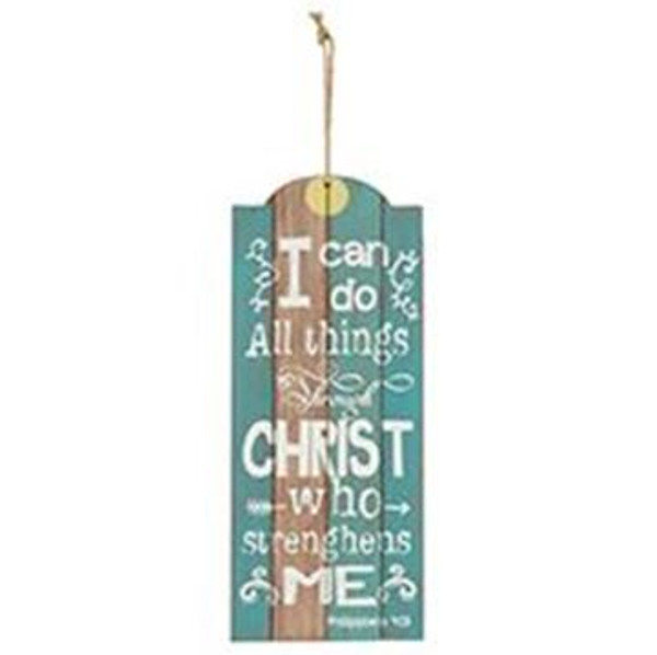 161-71961 Christ Strengths Me Hanging Wall Sign - Pack of 6