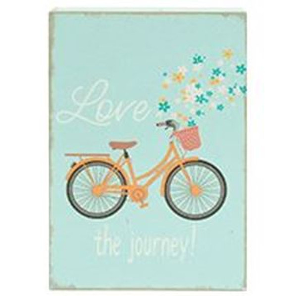 161-72038 Blossom Bucket Love Sign With Bike And Flowers - Pack of 7