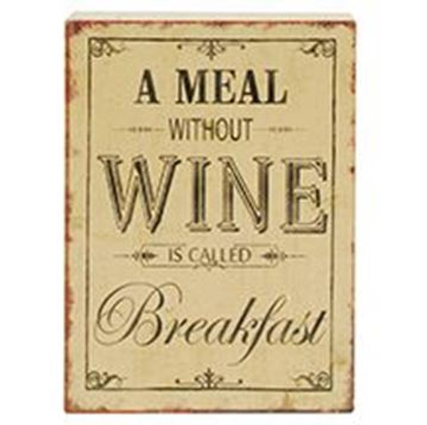 161-72042 Blossom Bucket Meal Wine Breakfast Sign - Pack of 7