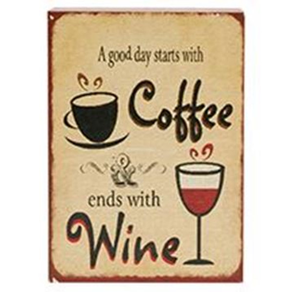 161-72045 Blossom Bucket Coffee Wine Sign - Pack of 7