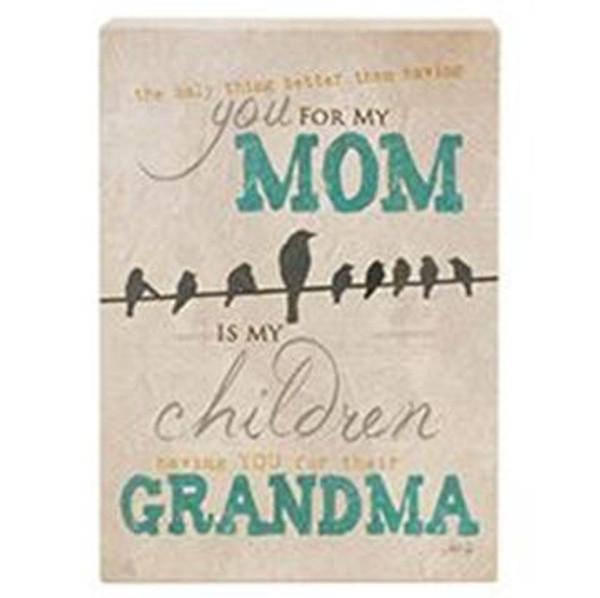 161-72047 Blossom Bucket Mom / Grandma Sign - Pack of 7