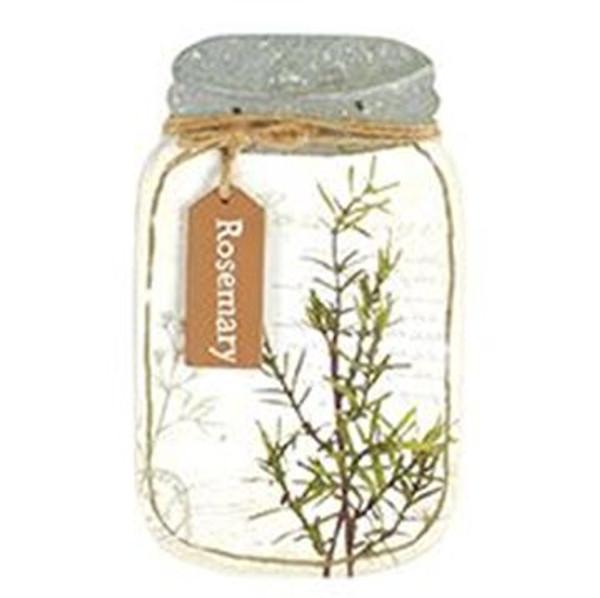 161-72056 Blossom Bucket Rosemary Jar Sign - Pack of 3