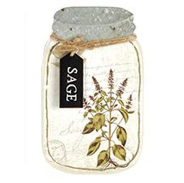 161-72057 Blossom Bucket Sage Jar Sign - Pack of 3
