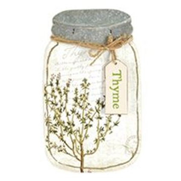 161-72058 Blossom Bucket Thyme Jar Sign - Pack of 3
