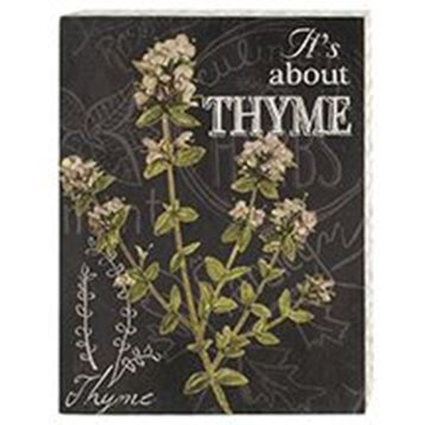 161-72061 Blossom Bucket Thyme Wall Box Sign - Pack of 4