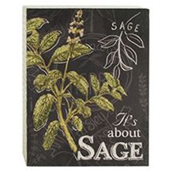 161-72062 Blossom Bucket Sage Wall Box Sign - Pack of 4